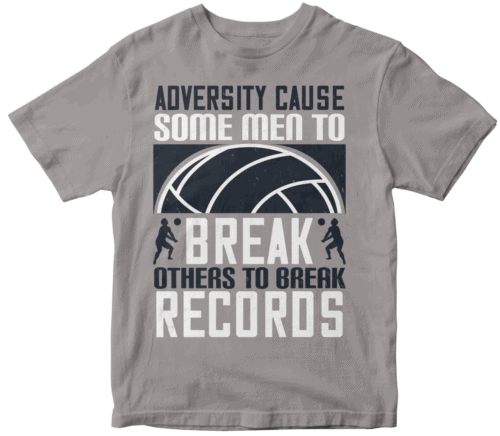 Adversity cause some men to break; others to break records