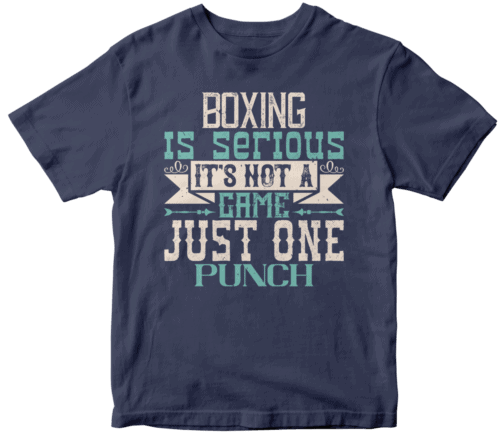 Boxing is serious. It's not a game. Just one punch