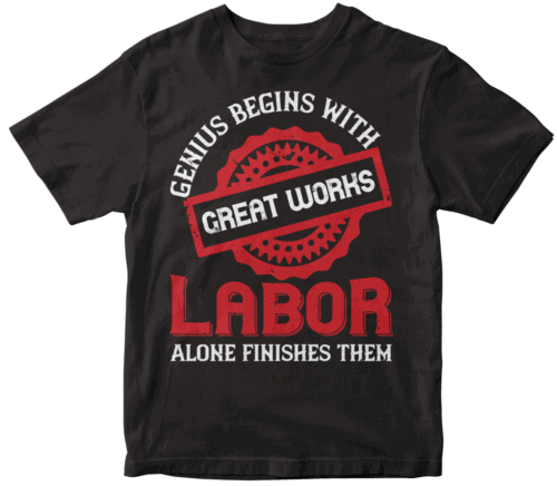 Genius begins with great works; labor alone finishes them