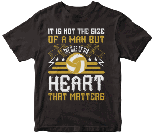 It is not the size of a man but the size of his heart that matters