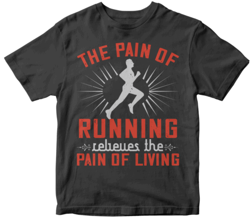 The pain of running relieves the pain of living